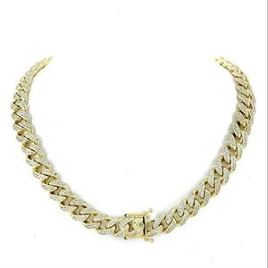 Harlembling Gold Diamonds Cuban Miami Choker Chain